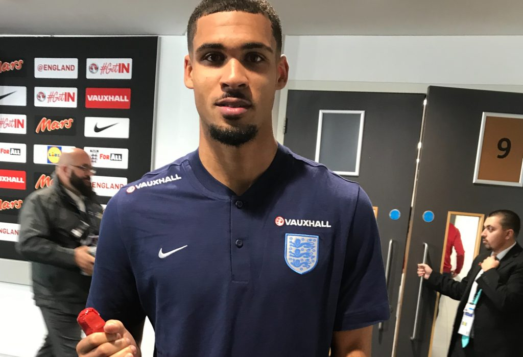 Ruben Loftus-Cheek with his man-of-the-match award for his performance for England against Germany - Photo: Paul Lagan