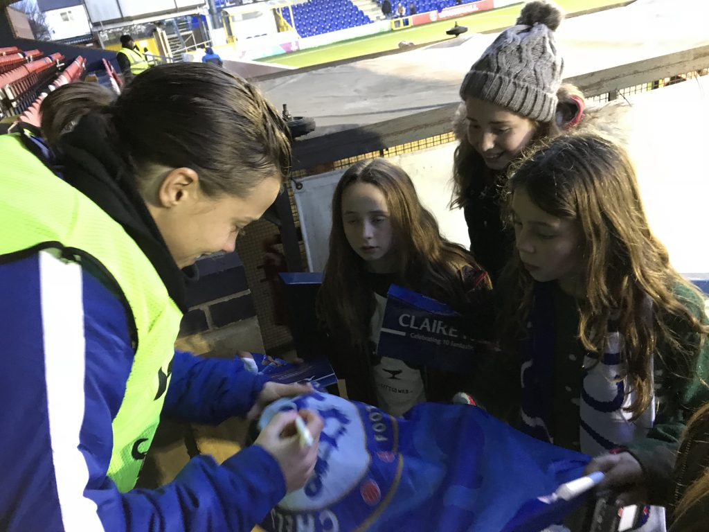 Fran Kirby is loved by the young fans