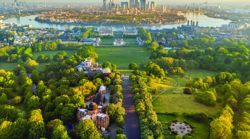 Vista of Greenwich Park and London. Picture: The Royal Parks