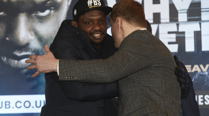 "Dillian Whyte to bring ""maximum violence"" as he takes on Russian Alexander Povetkin in May dust up"