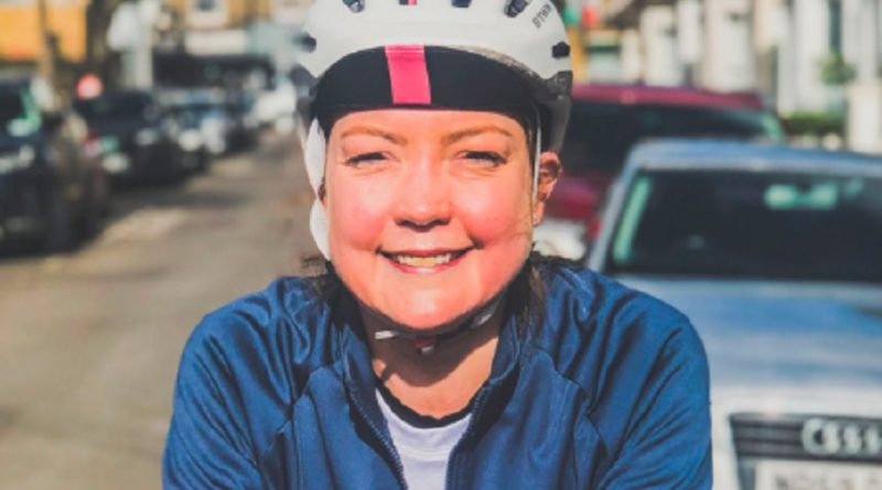 Pippa moves 100k bike ride into her garden to mark third anniversary of operation which saved her life
