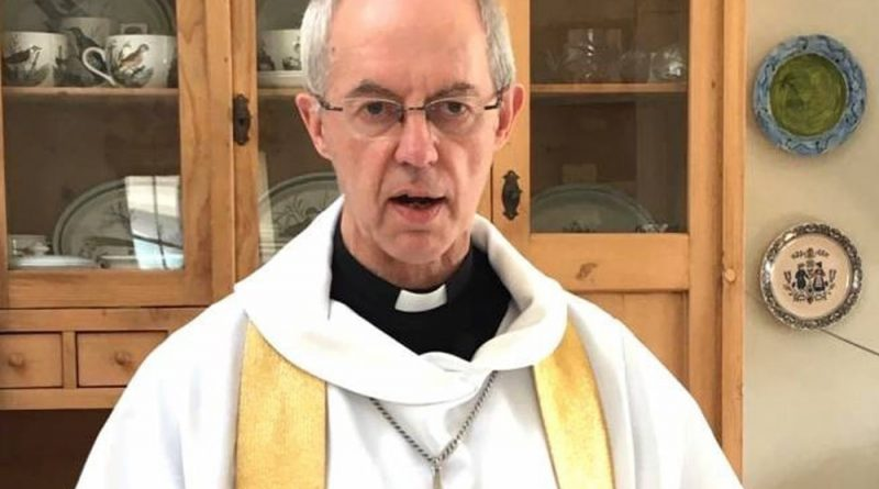 The Archbishop of Canterbury has been sneaking down to his local hospital in his sneakers to do some chaplaincy work.