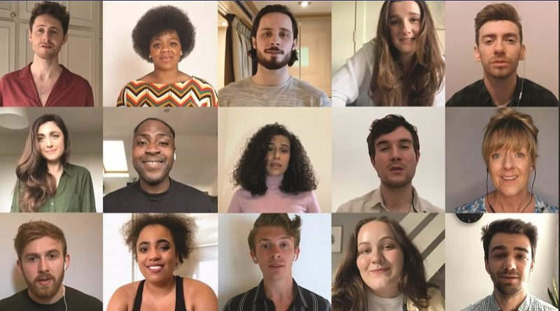 The Union Theatre's Elegies Cast dedicate song to NHS heroes and theatre freelancers