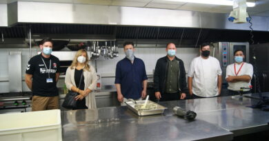 Charlton staff cook for kids at summer camp