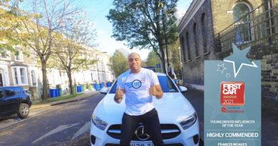 Celeb driving instructor wins influencer award for hit YouTube channel