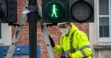 Green women traffic lights installed to celebrate International Women's Day