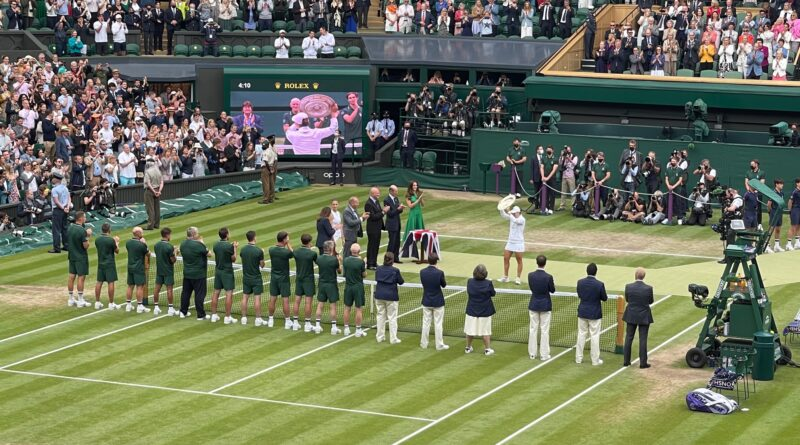 Barty receives the trophy