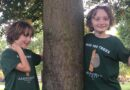 Schoolboys hug 100 trees to help prevent deforestation and fight climate change